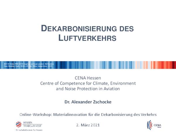Dekarbonisierung des Luftverkehrs