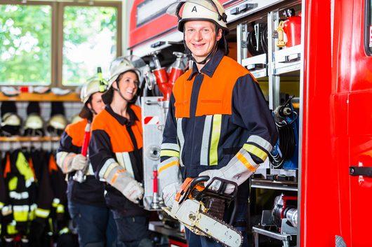 Klassiches Ehrenamt - Bild einer Freiwilligen Feuerwehr