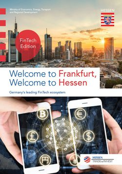Welcome to Frankfurt, Welcome to Hessen. Germany's leading FinTech ecosystem