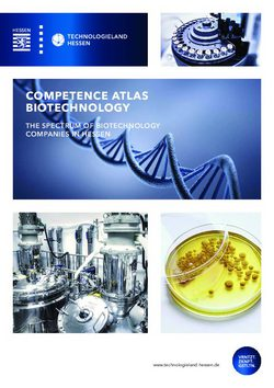 Competence Atlas Biotechnology