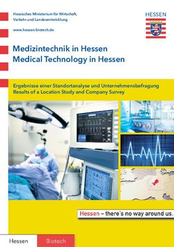 Medizintechnik in Hessen / Medical Technology in Hessen