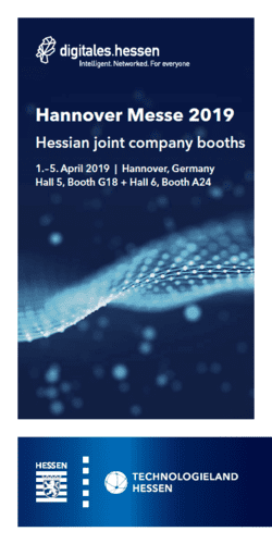 Hannover Messe 2019 - Hessian joint company booths