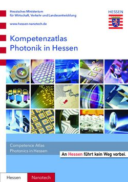 Kompetenzatlas Photonik in Hessen