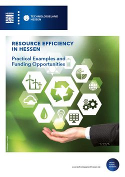 Resource Efficiency in Hessen - Practical Examples and Funding Opportunities