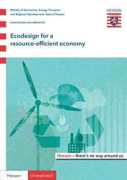 Ecodesign for a resource-efficient economy