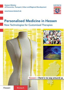 Personalised Medicine in Hessen 2012
