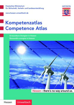 Kompetenzatlas Erneuerbare Energien - Competence Atlas Renewable Energies in Hessen