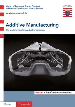 Additive Manufacturing - The path toward individual production